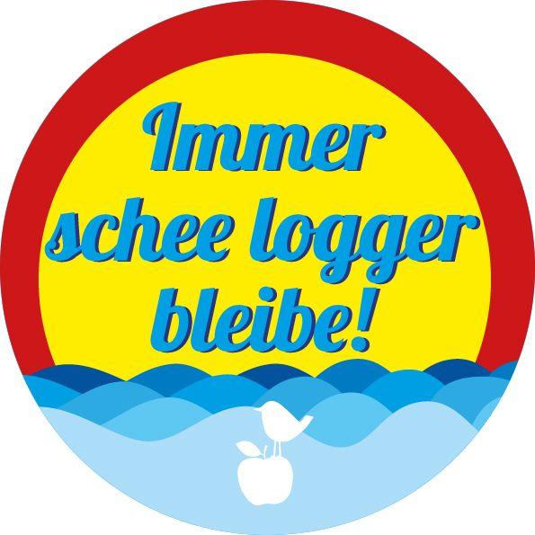 """Button """"Logger"""" - Meine Heimat Hessen von MainSpatzen auf DaWanda.com"""