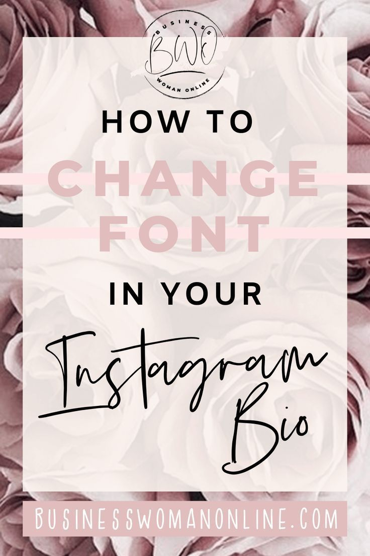 How To Change Font In Your Instagram Bio Instagram Bio Instagram Font Instagram Aesthetic