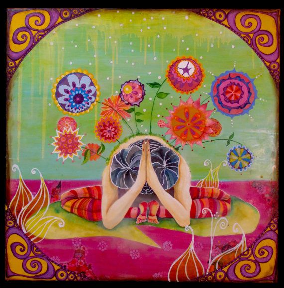 Yoga Painting by MARLENEKOENIG on Etsy, $600.00