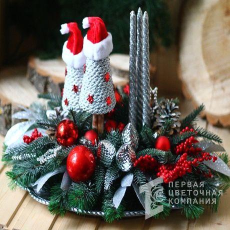 Новогодняя композиция «Санта Клаус»