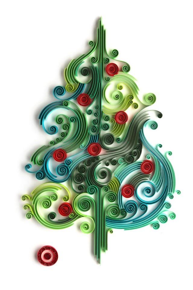 Navidad de papel (by Yulia Brodskaya)