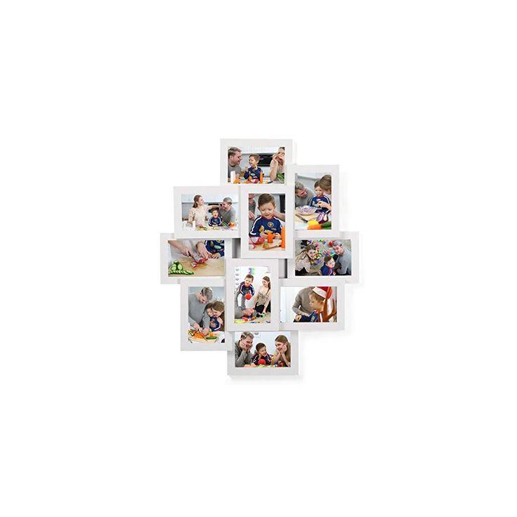 SONGMICS Cornici Fotografiche da Muro in Legno Fiberboard