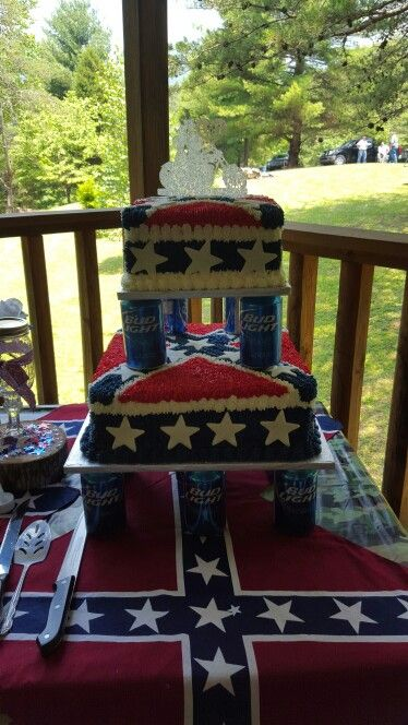 Rebel flag wedding cake