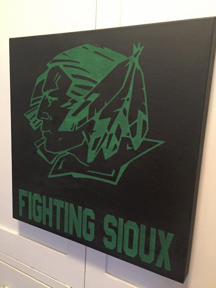 Fighting Sioux Canvas - Free Shipping by ChestnutandLime on Etsy https://www.etsy.com/listing/224231846/fighting-sioux-canvas-free-shipping