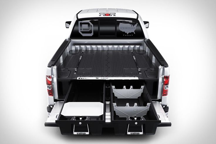 With the Decked Truck Bed Organizer, your truck just got a lot more useful. Keeping everything you carry in your truck perfectly organized and easily within reach, these customizable truck bed organizers are made to handle all your gear, while still giving you space in your truck bed for hauling.