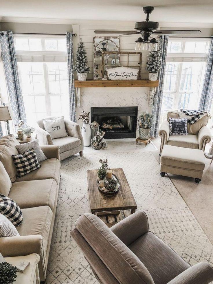 60 Fabulous Farmhouse Style Ideas To Decorate Your…
