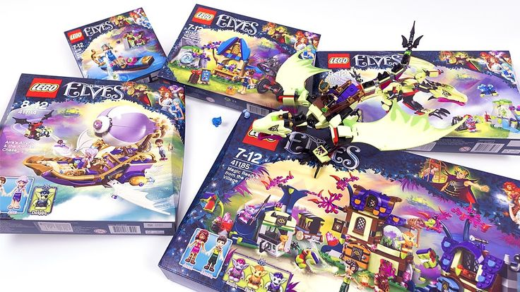 LEGO ELVES 2017 ALL SETS Unboxing & Review - LEGO 41181, 41182, 41183, 41184, 41185 - YouTube