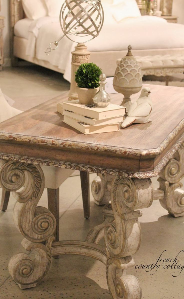 High Quality Glass Top Coffee Table · FRENCH COUNTRY COTTAGE: High Point Market~  Accentrics Home