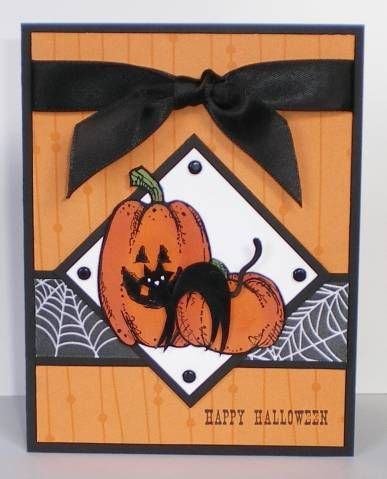 su sc178 ccc08 halloween 4 by michelleredman cards and paper crafts at splitcoaststampers - Handmade Halloween Cards Pinterest