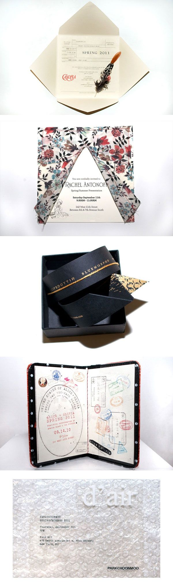 Fashion Week invitations