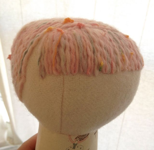 Loopy moppy yarn hair how-to photo (20) by Hillary Lang, via Flickr