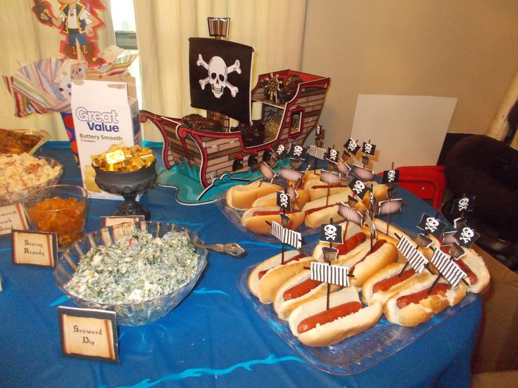 Pirate ship hot dog with DIY sails | Pirate Party ...