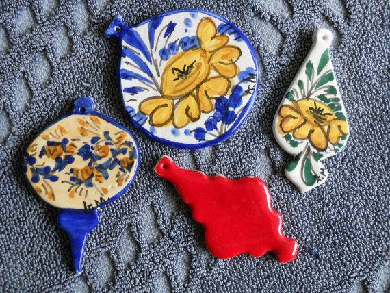 Decorazioni natalizie in ceramica di ceramichemessina su Etsy