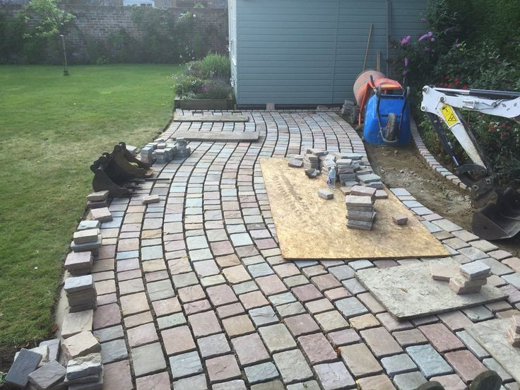 Cobblestone Patio | Meadow Sandstone Cobbles | Landscaping | Garden Path |  Installed By Lifestyle Landscapes