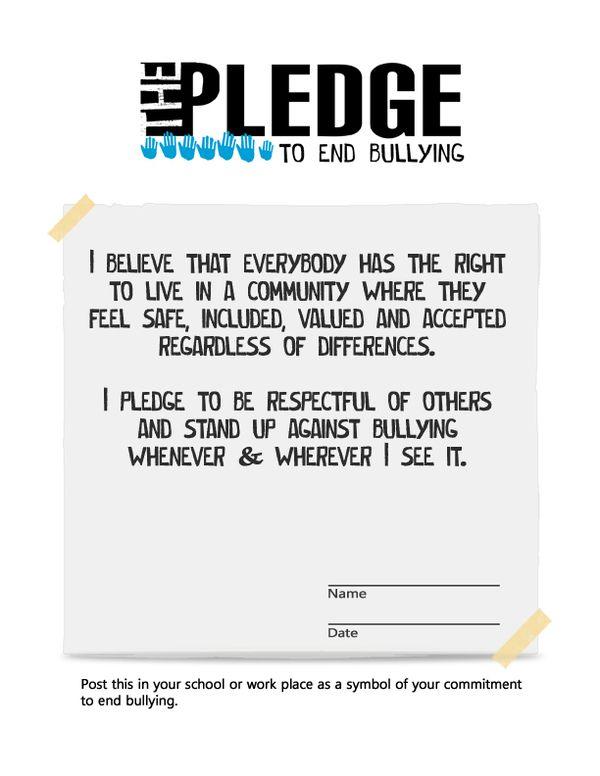 The Pledge to End Bullying by Tania DeJonge, via Behance