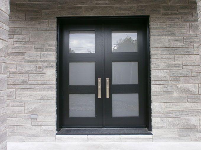 wood front doors portes dentre en bois portes bourassa - Modern Glass Exterior Doors