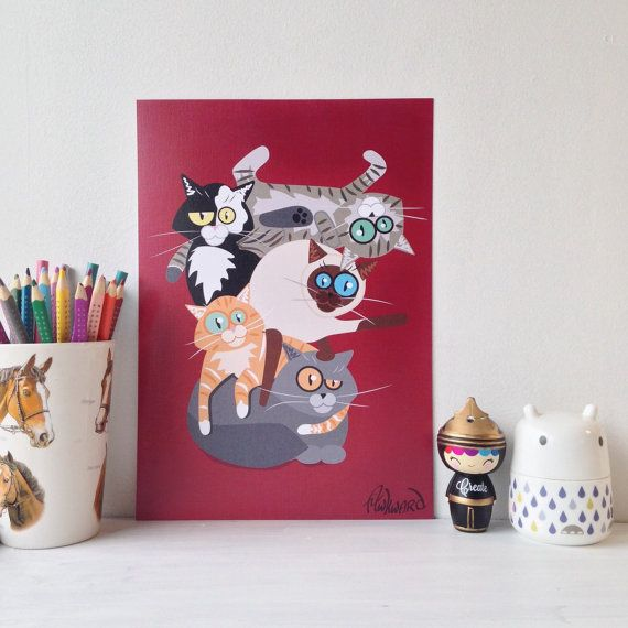 Cats Galore from the Resolution Alumni by Didi Lou on Etsy