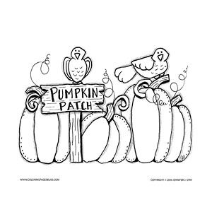 coloring for adults the autumn coloring page is downloadable and features a pumpkin patch for