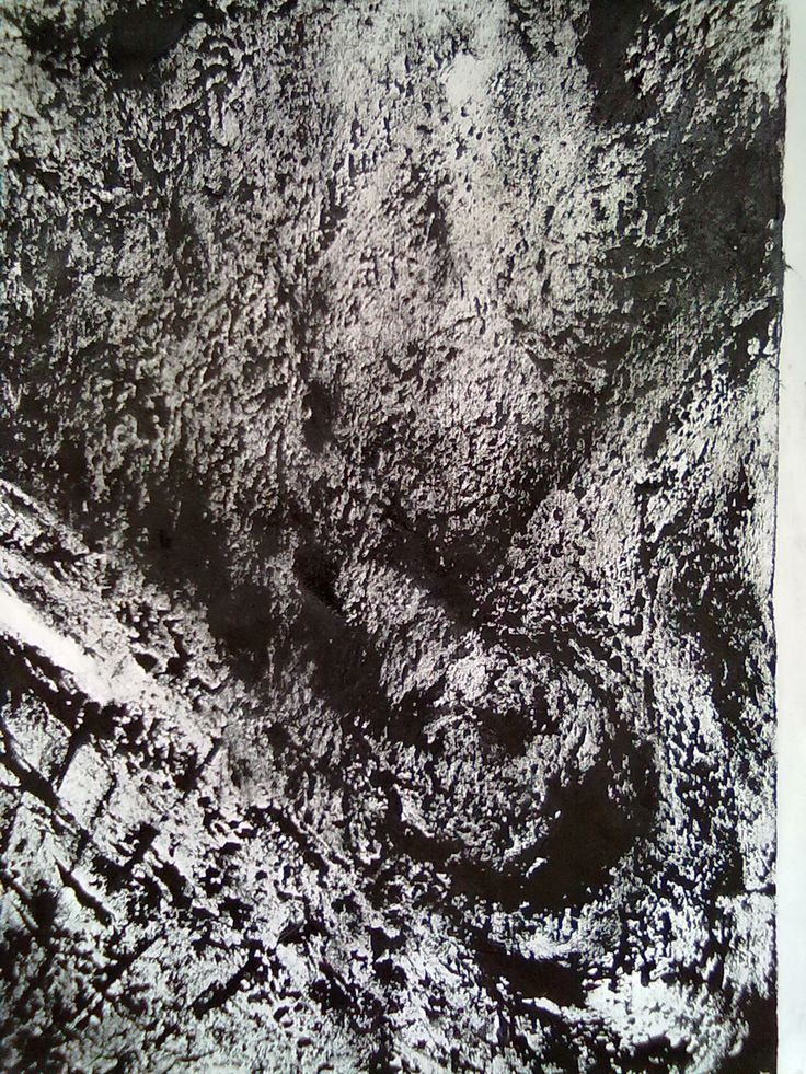 C2-Original Abstract Contemporary Texture Painting Rubber Media by Yap HS