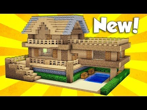 Minecraft  Wooden House Tutorial   How to Build a House in Minecraft   Easy. 25  unique Minecraft wooden house ideas on Pinterest   Cool