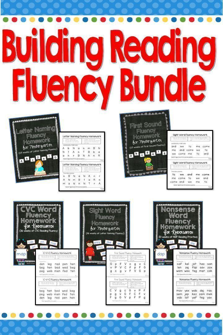 Building Reading Fluency Bundle | Time 4 Literacy | Pinterest