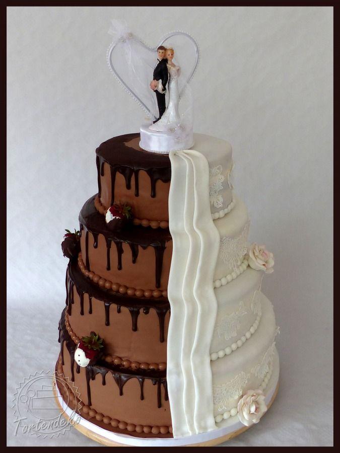 Hochzeitstorte Schoko Weiß Kuchen Hochzeitstorte Torten Und Rezepte