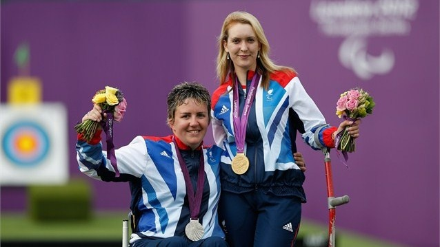 Great Britain's Danielle Brown defended her Paralympic Games title with a narrow victory over team-mate Mel Clarke in a tense women's Individual Compound - Open final at The Royal Artillery Barracks which went down to the last arrow. -Day 6