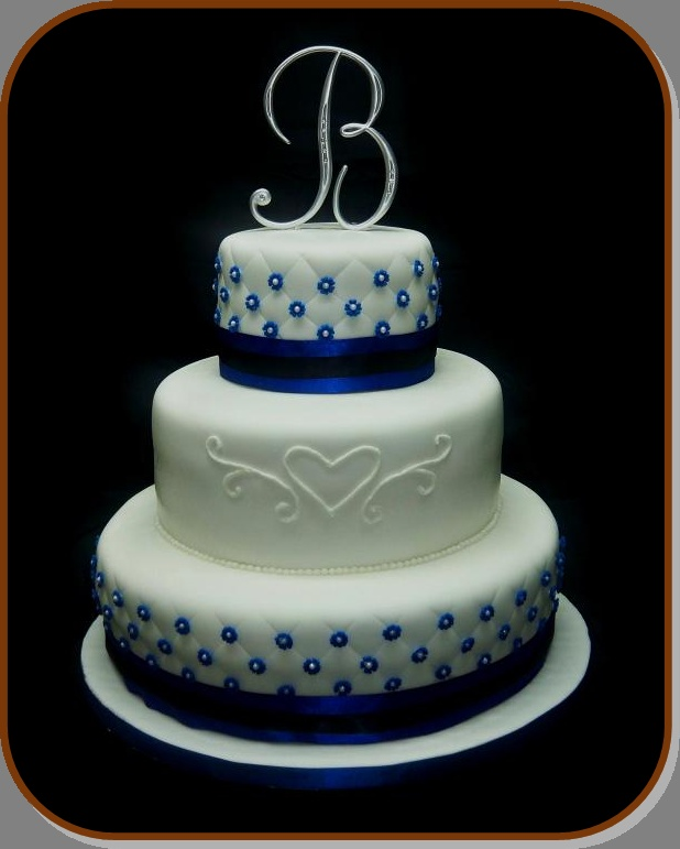 ROYAL BLUE WEDDING CAKE Becoming Mrs. Nelson 9/5/2015 ...