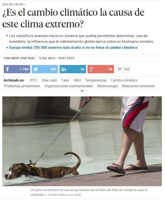 ¿Es el cambio climático la causa de este clima extremo? / @el_pais | #readyforclimatechange