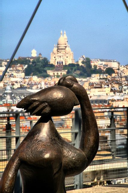 The Sacred Heart of Paris from Centre Pompidou