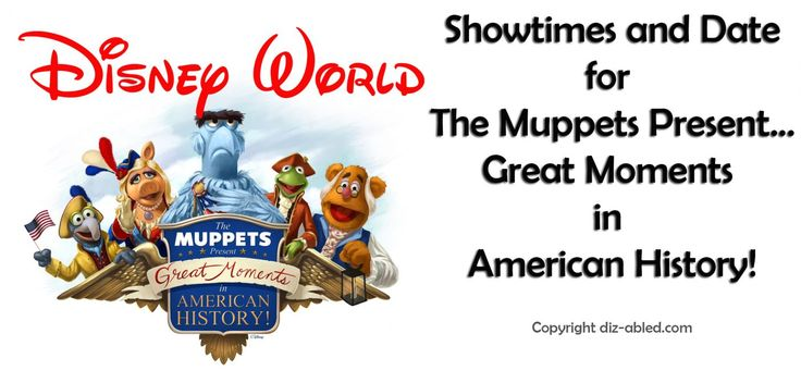Date and Show Schedule for the New Muppets Show at Magic Kingdom