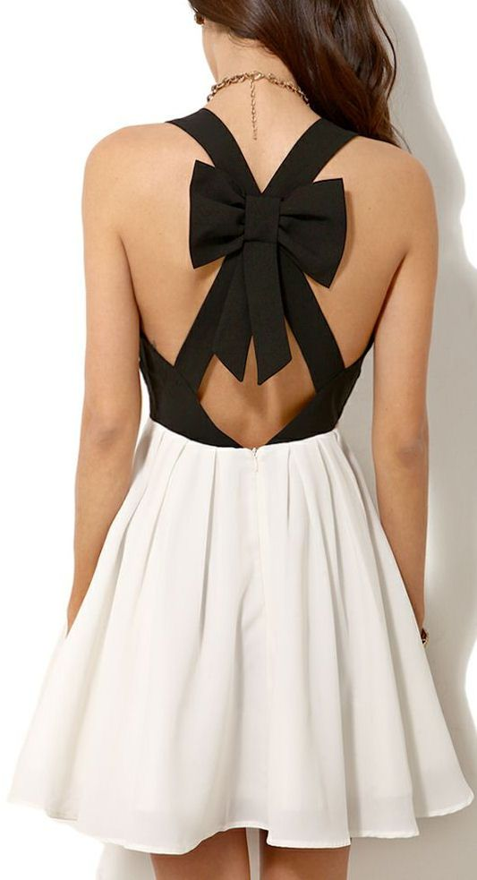 Bow Back Dress ♥ Just wish it didn't have the cutout on the front.