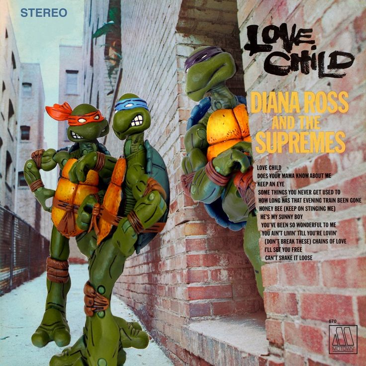 Taking it a little further back on this one. I'm curious, how many of you out there were around to see #TheSupremes release #LoveChild in #1968 ?? I wasn't! My parents hadn't even met yet, but #DianaRoss is still one of my favorites.  #turtleparody #albumparody #albumart #albumcoverart #albumcoverlove #albumcovers #musicart #musicandart  #necaturtles #necatmnt  #turtlepower #tmnt #ninjaturtles #Motown