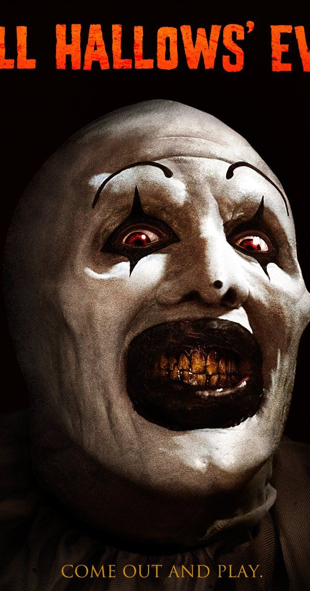 All Hallows' Eve (2013).  While watching two children on Halloween night, a babysitter finds an old VHS tape in the kids' trick or treat bag. The tape features three tales of terror, all linked together by a murderous clown. As the night goes on strange things begin to occur in the house. It isn't long before the babysitter learns the horrifying truth... the maniacal clown is slowly working his way into her reality.