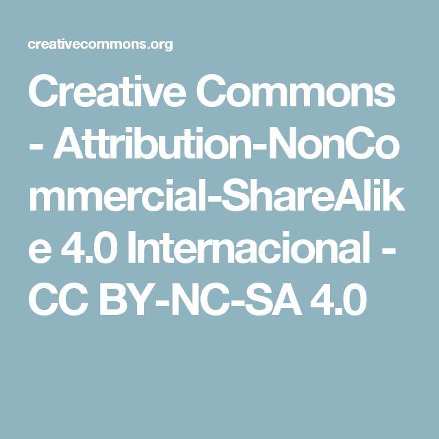 Creative Commons - Attribution-NonCommercial-ShareAlike 4.0 Internacional - CC BY-NC-SA 4.0