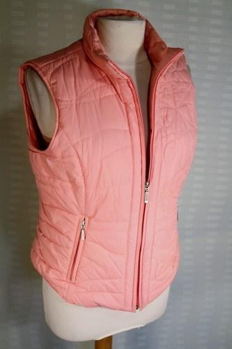 Per Una Pink Padded Waistcoat Gilet Bodywarmer Size M   eBay