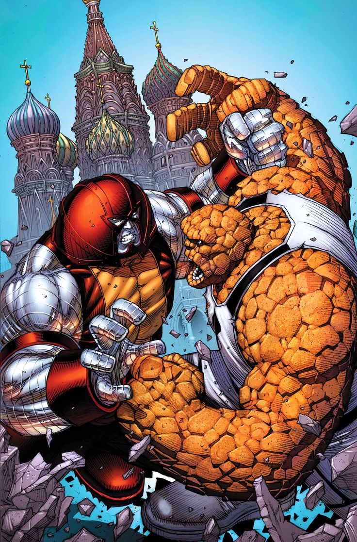 Colossus-Juggernaut v Thing by Dale Keown! (Marvel comics)