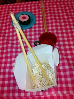 Chinese restaurant center in the dramatic play center
