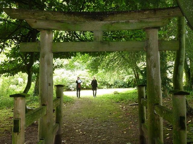 Japanese gateway. Matara Gardens Tetbury. Photo Lee A. Kok.