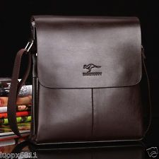 new Men's Genuine Leather Handbag Briefcase Laptop Shoulder Bag Messenger Bag
