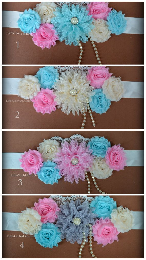 Gender reveal/ Neutral Sash/ Elegance Maternity Sash/ by LittleOrchidStudio for $23.99
