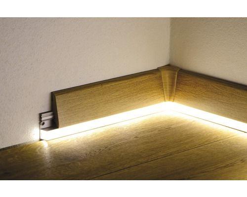 Led Kanal Alu Fur Sockelleiste 16x42x2400 Mm Beleuchtungsideen Sockelleisten Led Treppenbeleuchtung