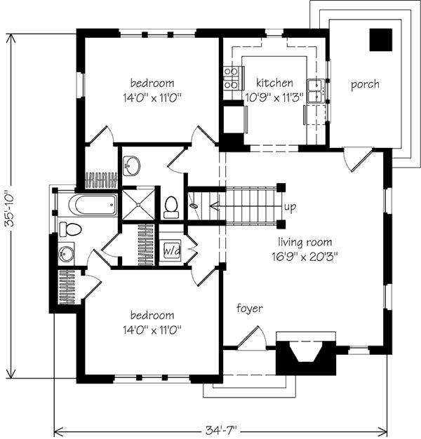 1704 best blueprint images on pinterest architectural drawings main level floor plan malvernweather Choice Image