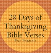 Thanksgiving Bible Verses - Free Thanksgiving Countdown Printable | FaithGateway