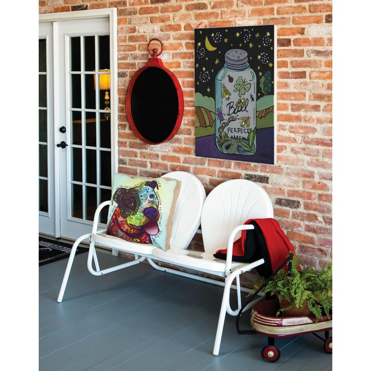 Outdoor Cape Craftsman White Shell Double Seat Glider - 8MB011