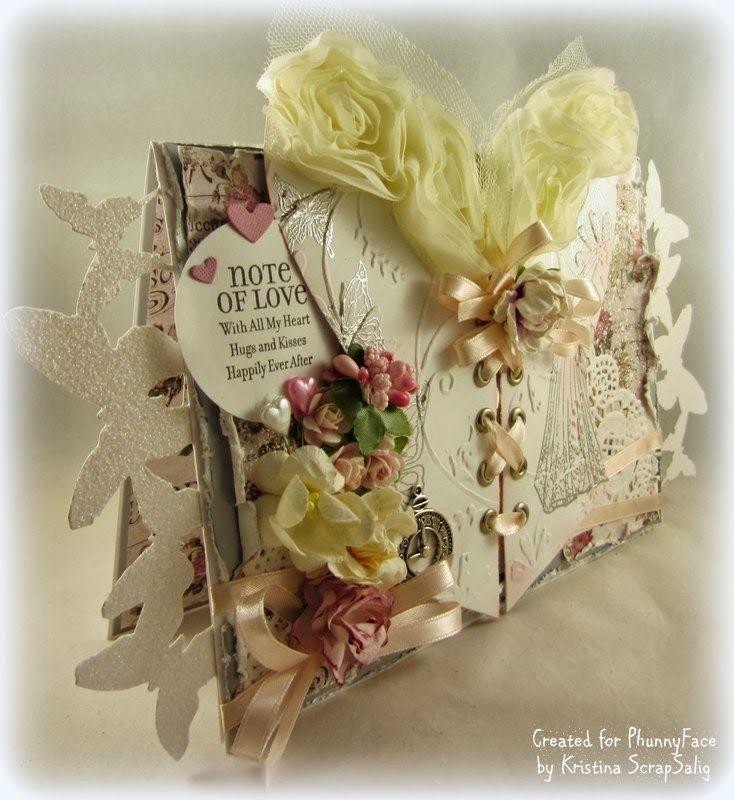 My PhunnyFace stämpel Blogg: Wedding card with corset