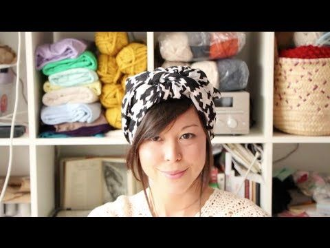 How to tie a headscarf -- Gathered by Mollie Makes