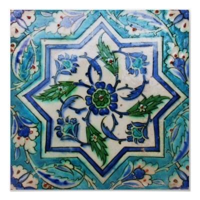 antique ottoman tile motif