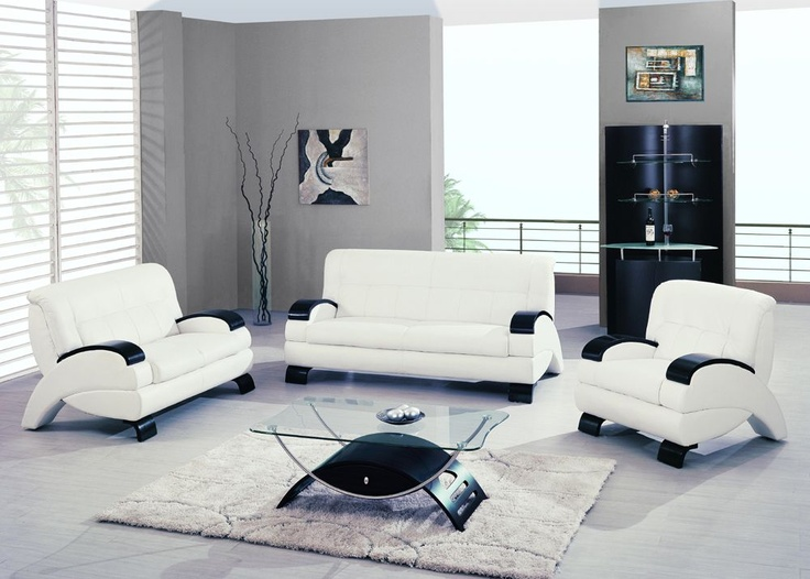 $1378 2 Pcs Modern White Leatherette Sofa Set (Sofa And Loveseat) By Global  Furniture · Living Room ...