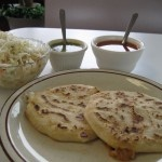 What in the World are Pupusas?! An El Salvadorian flatbread made with masa that is stuffed with a variety of ingredients, flattened, then cooked all at once enclosing everything within the pupusa. Pupuseria Y Restaurante Cuscatleco 3125 West Lawrence